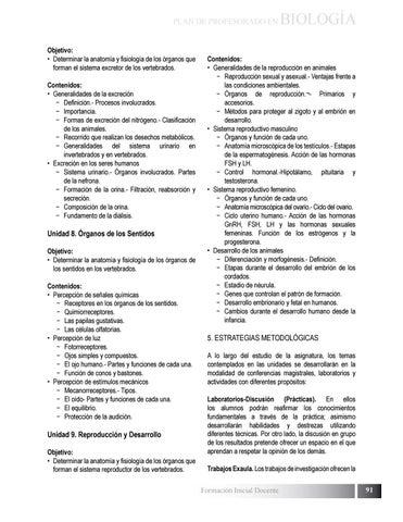 Plan de estudio de Profesorado en Biologia by Biblioteca \