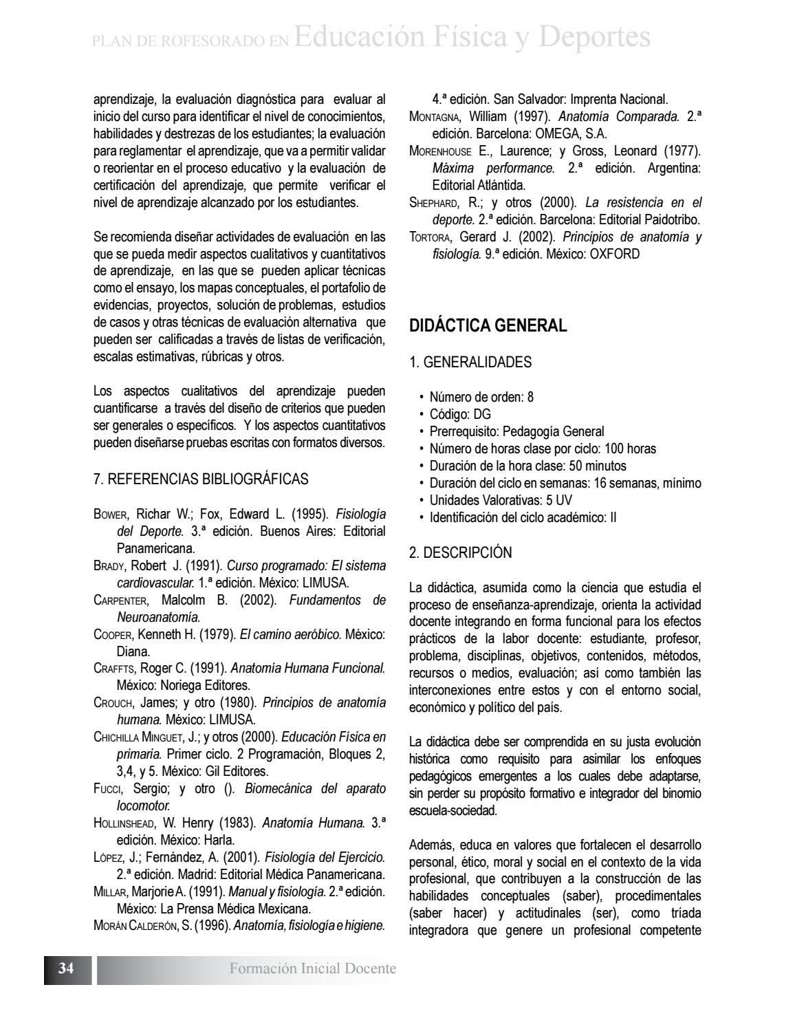 Plan de estudio de Profesorado en Educacion Fisica y Deportes by ...