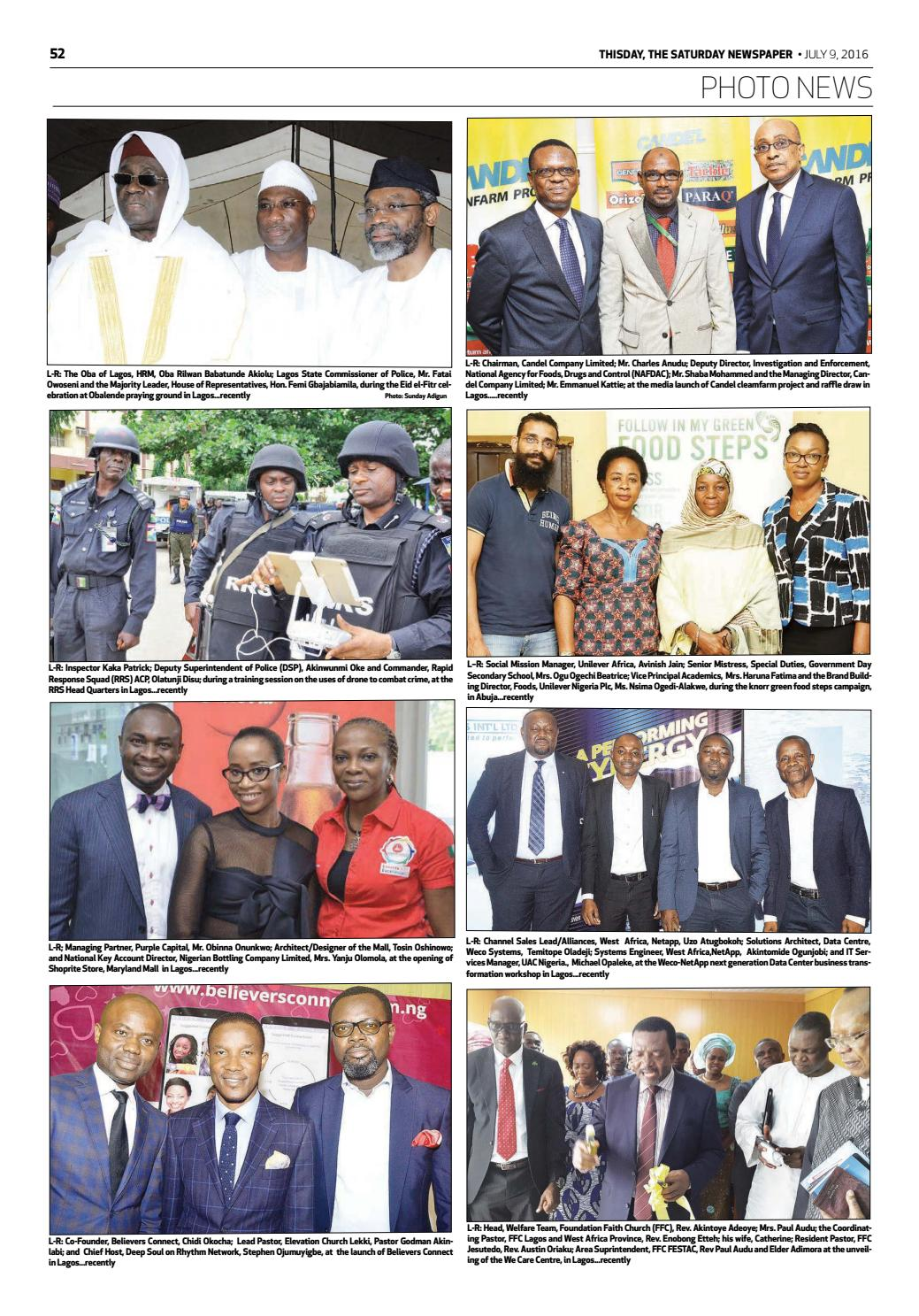 Saturday 9th July 2016 by THISDAY Newspapers Ltd - issuu