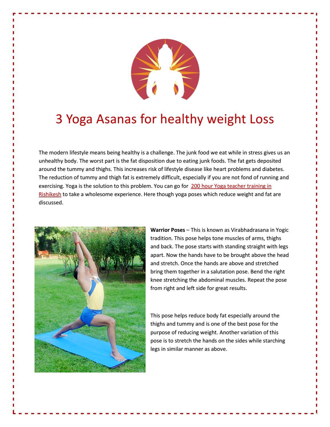 3 Yoga Asanas For Healthy Weight Loss By Ojashvi Yoga Shala Issuu