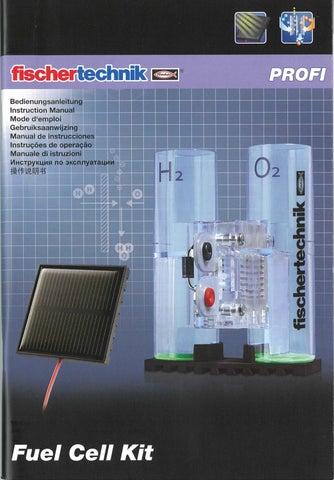 Activity Booklet of fischertechnik Fuel Cell Kit by ETC Educational