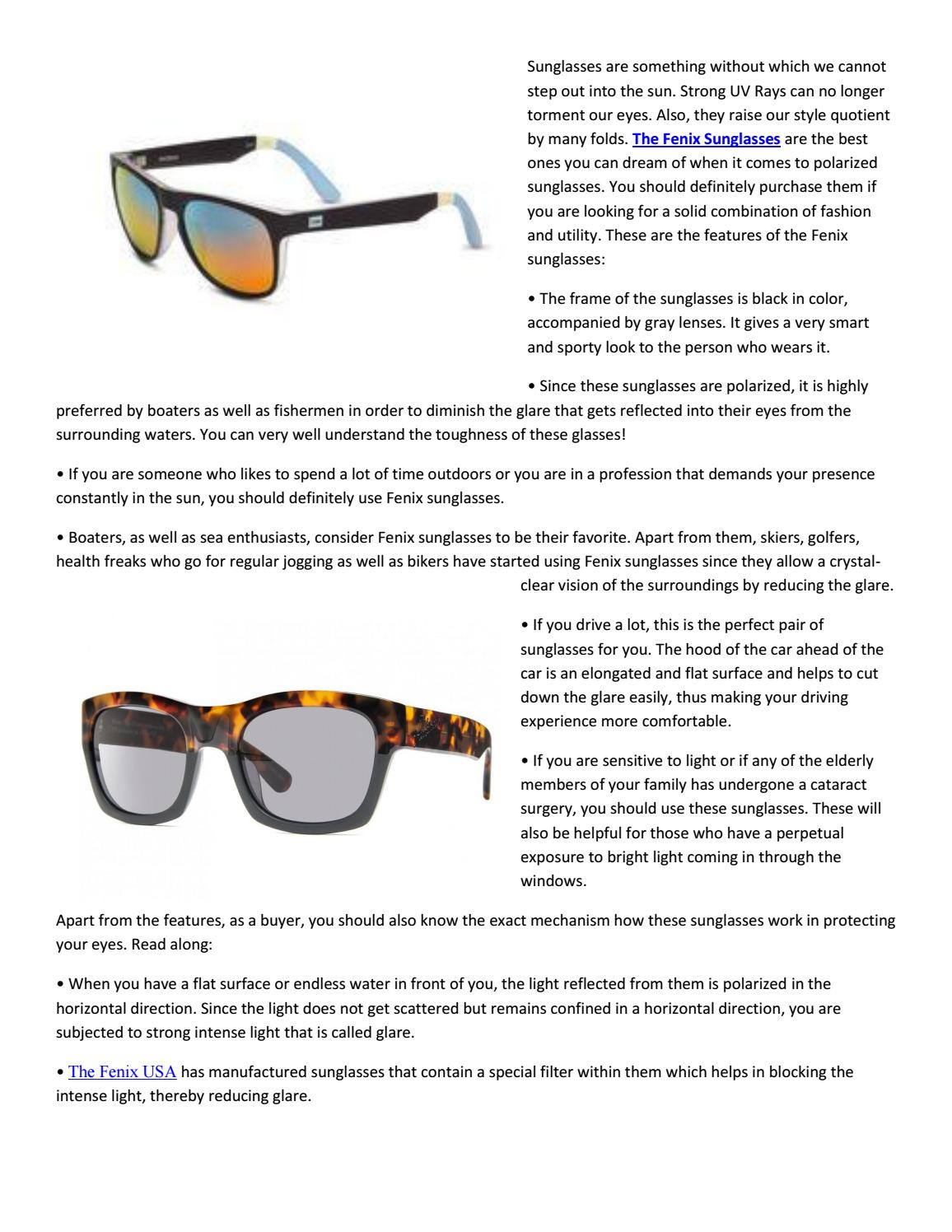efd96748beb The Fenix Sunglasses  A must-have by dwaynsmithjohnson - issuu