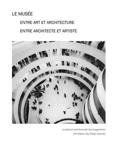 e7f2bce098 Le musée entre art et architecture entre artiste architecte la ...