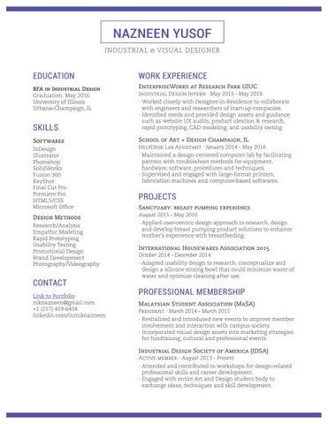 nazneen yusof industrial design resume by nik nazneen nik md
