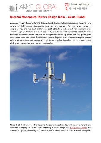 Telecom Monopoles Towers Design by Akme Global - issuu