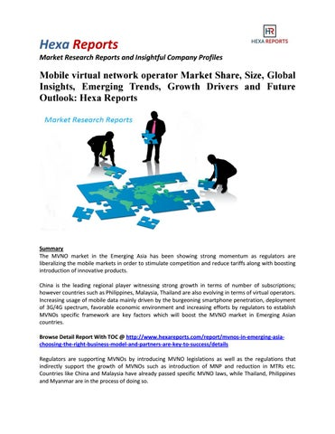 Mobile virtual network operator market share, size, global