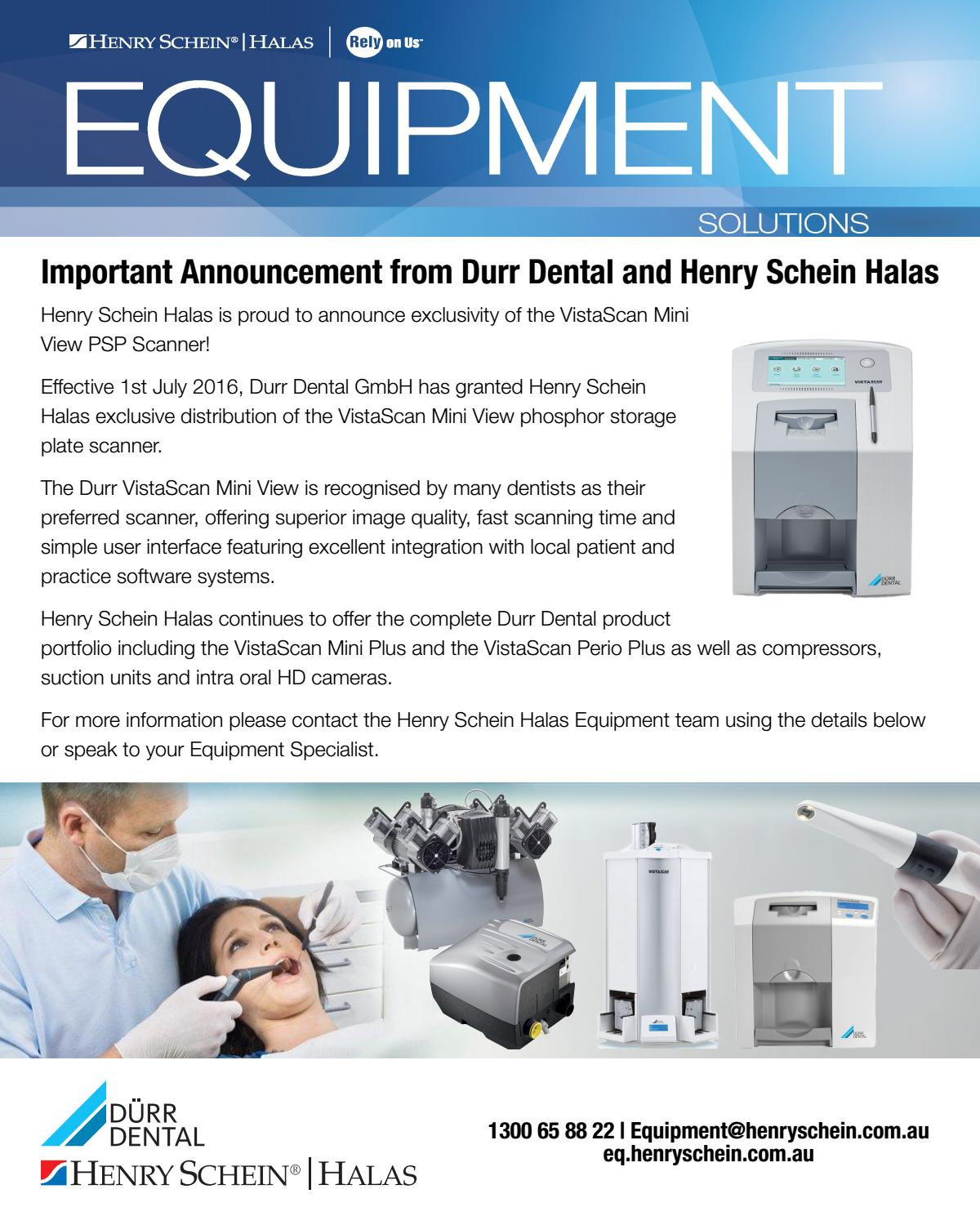 Important Announcement from Durr Dental and Henry Schein ...