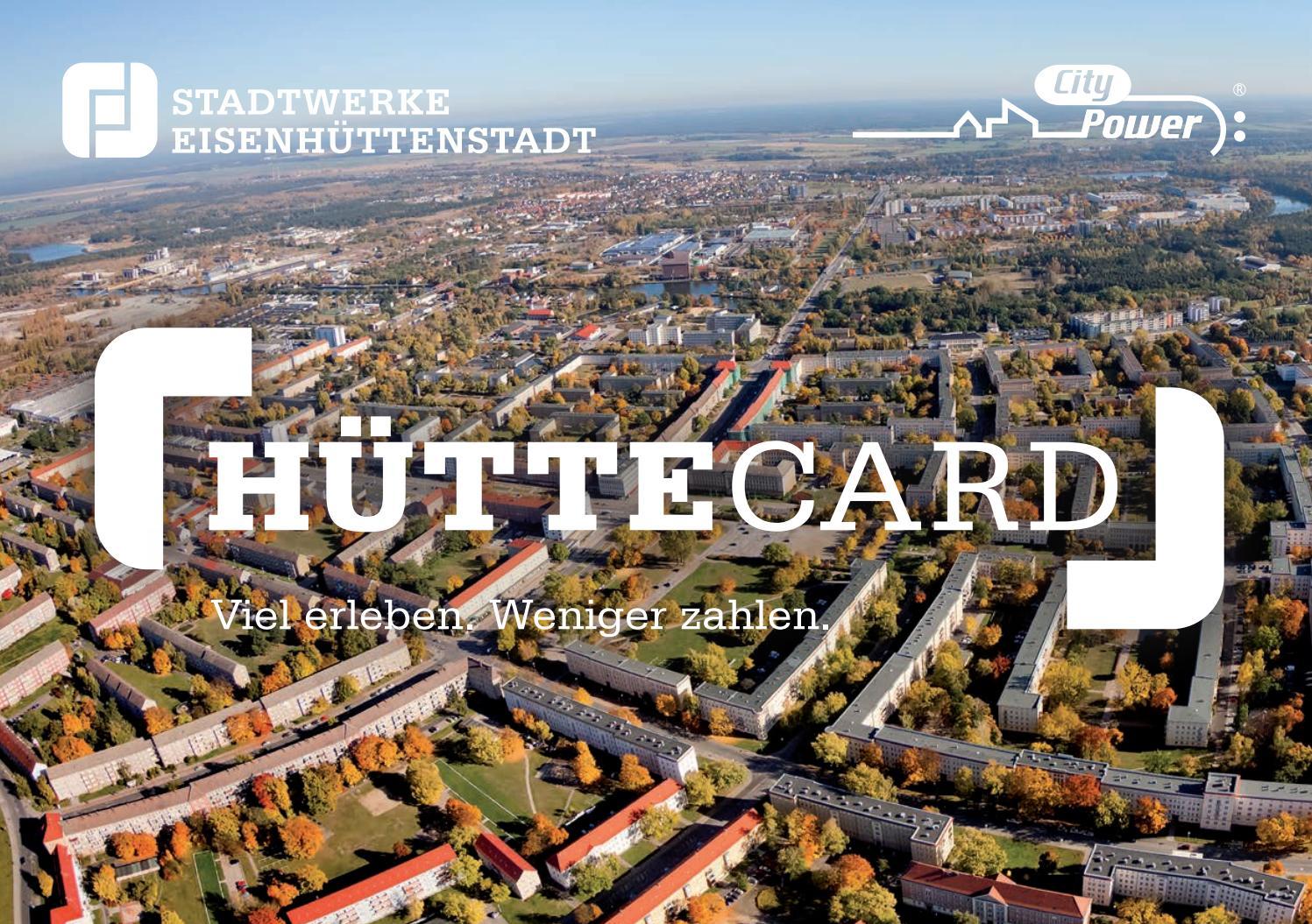 Huttecard Leistungstragerbroschure By Stadtwerke Eisenhuttenstadt