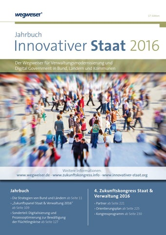 Jahrbuch Innovativer Staat 2016 by Wegweiser Berlin GmbH - issuu