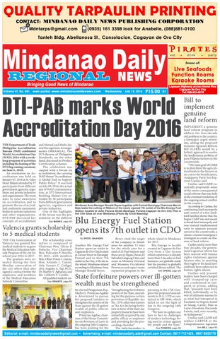 Mindanao Daily Set B (July 13, 2016) by Mindanao Daily News - issuu