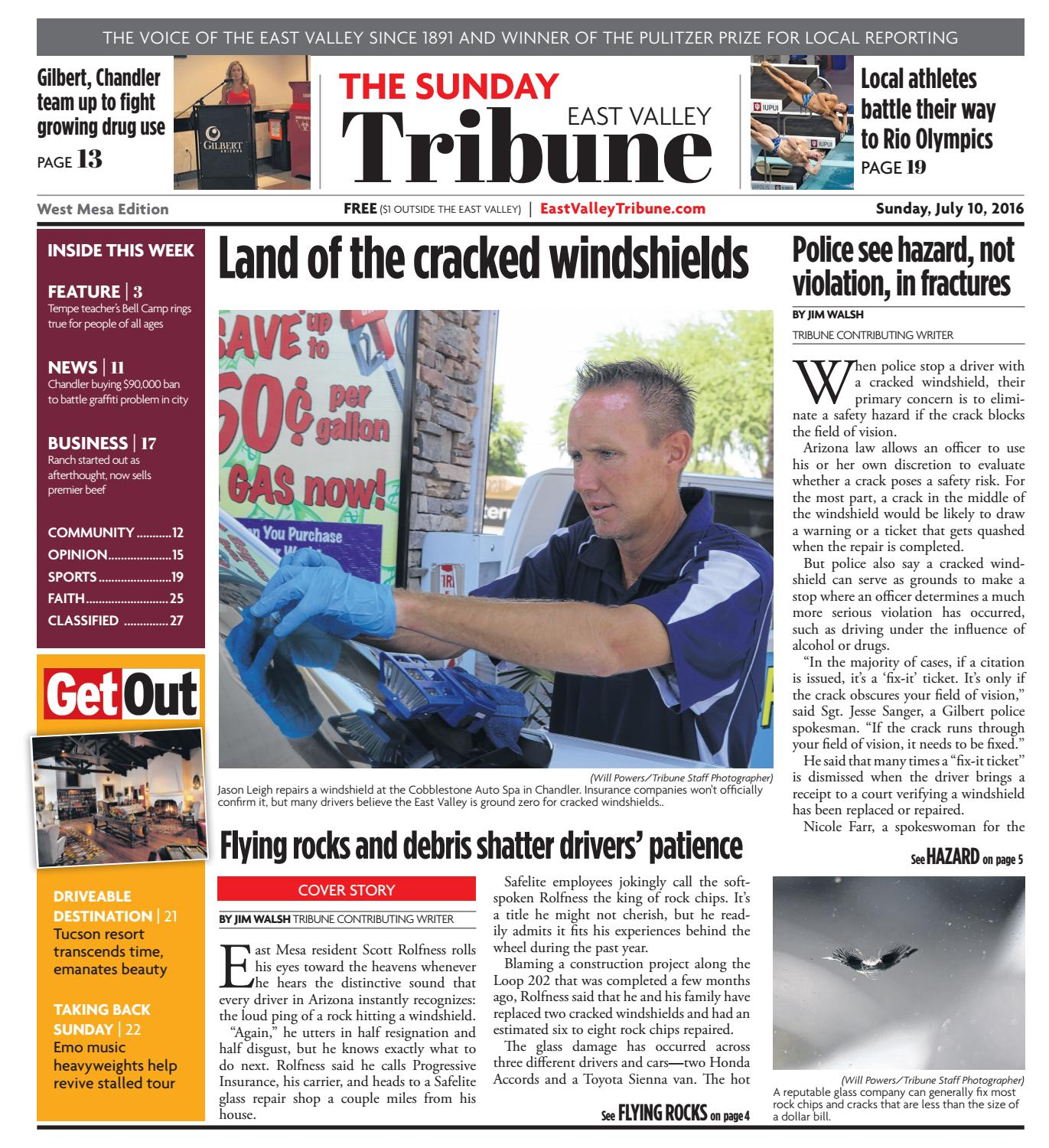 East Valley Tribune: West Mesa Edition - July 10, 2016 by
