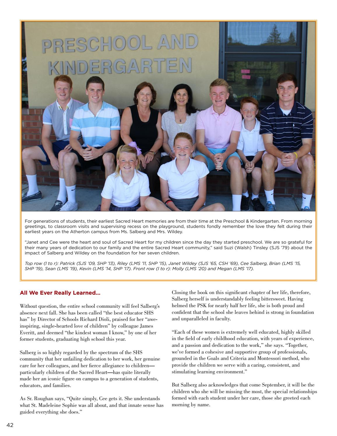 Sacred Heart Magazine Summer 2016 By Sacred Heart Schools Atherton