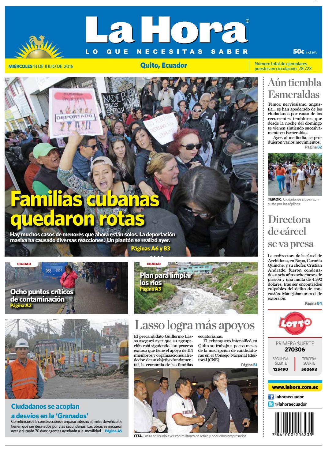 Quito 13 de Julio de 2016 by Diario La Hora Ecuador - issuu