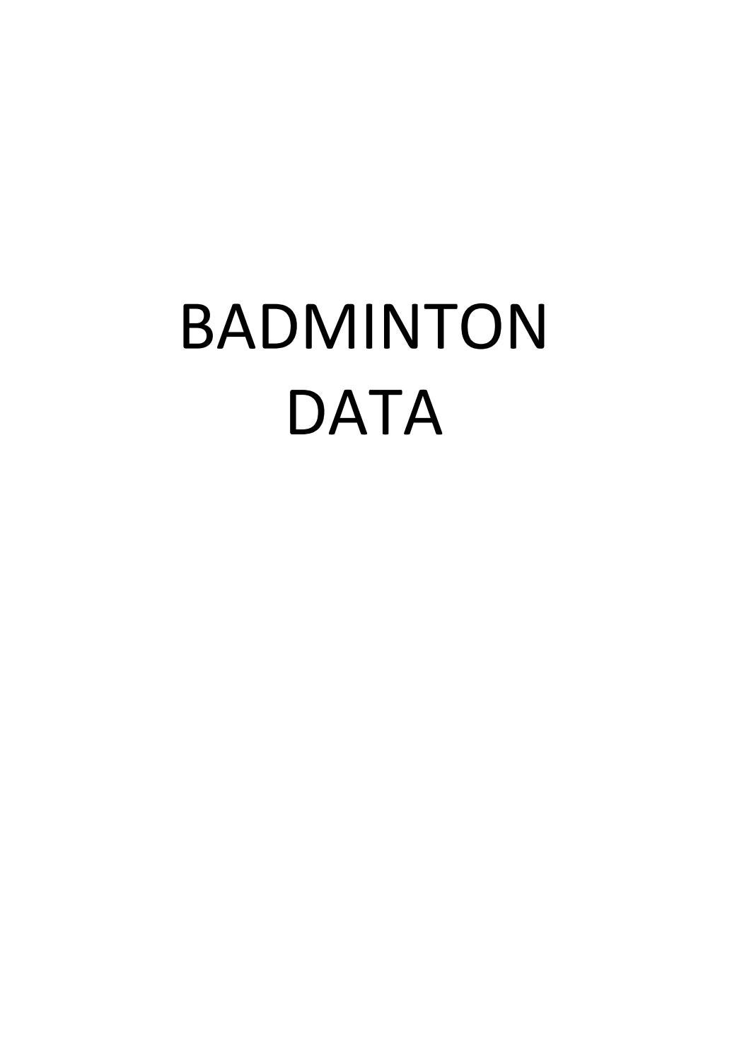 Badminton Data by René Born by Rene Born issuu