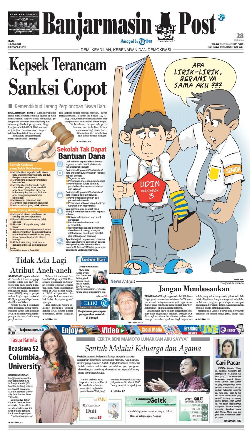 Banjarmasin Post Rabu 13 Juli 2016 By Banjarmasin Post Issuu