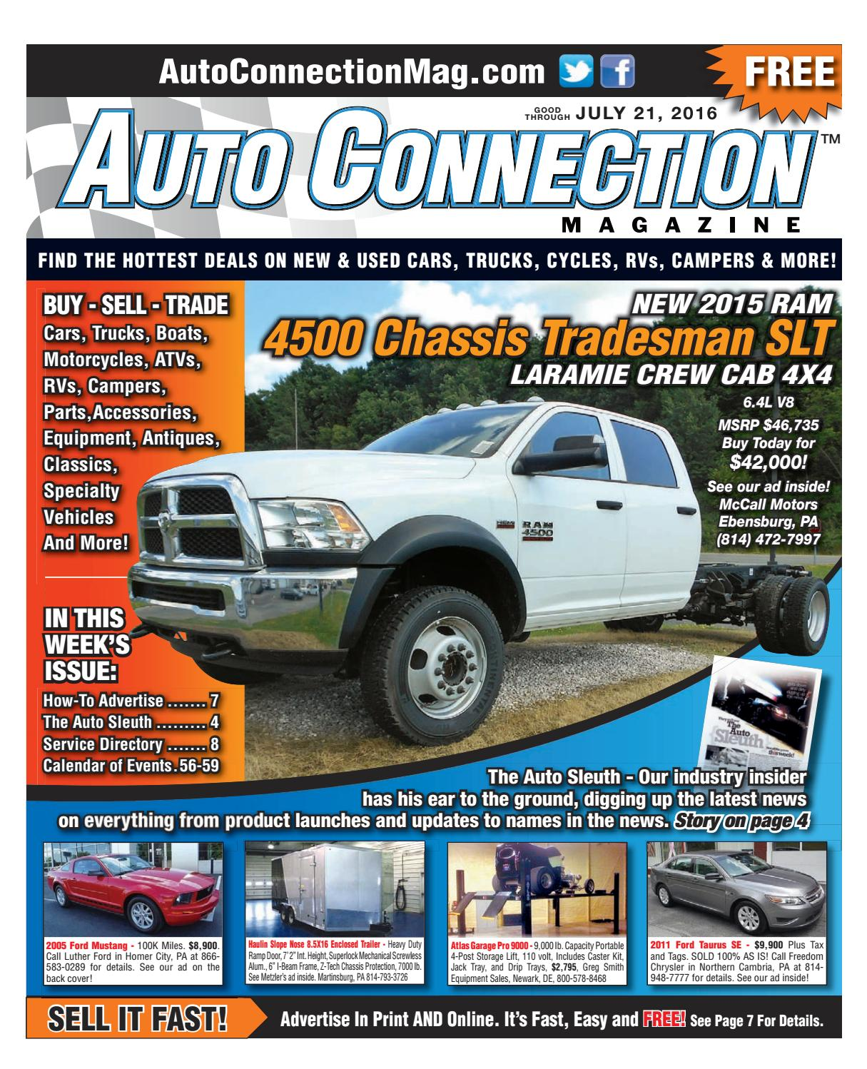 07-21-16 Auto Connection Magazine by Auto Connection Magazine - issuu