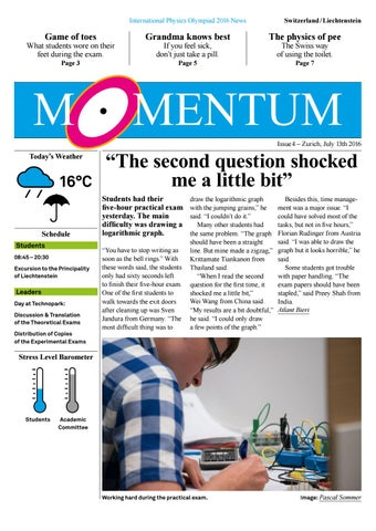 IPhO MOMENTUM issue 4 by IPhO 2016 - issuu