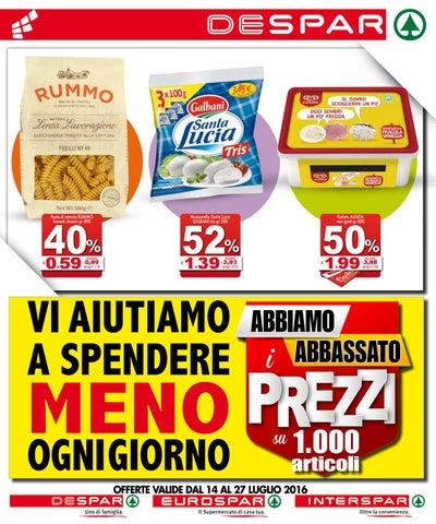 Volantino despar eurospar interspar 14 luglio 27 luglio for Volantino offerte despar messina