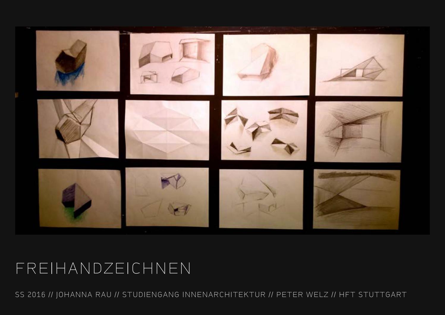 Innenarchitektur Hft Stuttgart johanna rau freihandzeichnen hft by johanna rau issuu