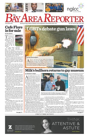 July 14, 2016 Edition of the Bay Area Reporter by Bay Area