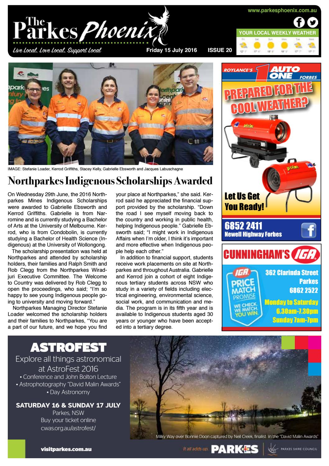 64cf2a724 The Parkes Phoenix Issue 20 by Phoenix Group of Newspapers - issuu