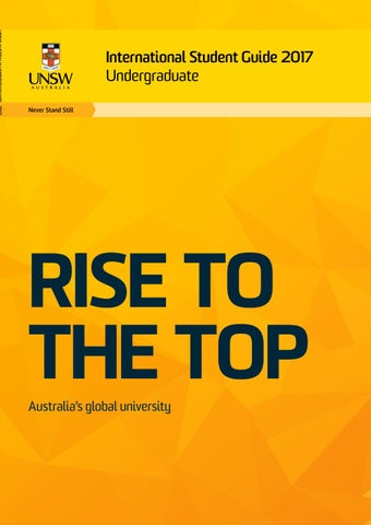 UNSW International Student Guide 2017 – Undergraduate by