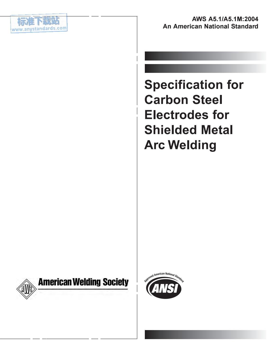 aws a5 1 a5 1m 2004 specification for carbon steel