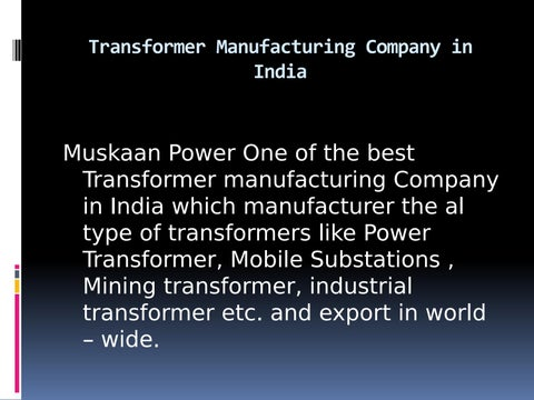 Transformer manufacturers in india by Bizzrise - issuu