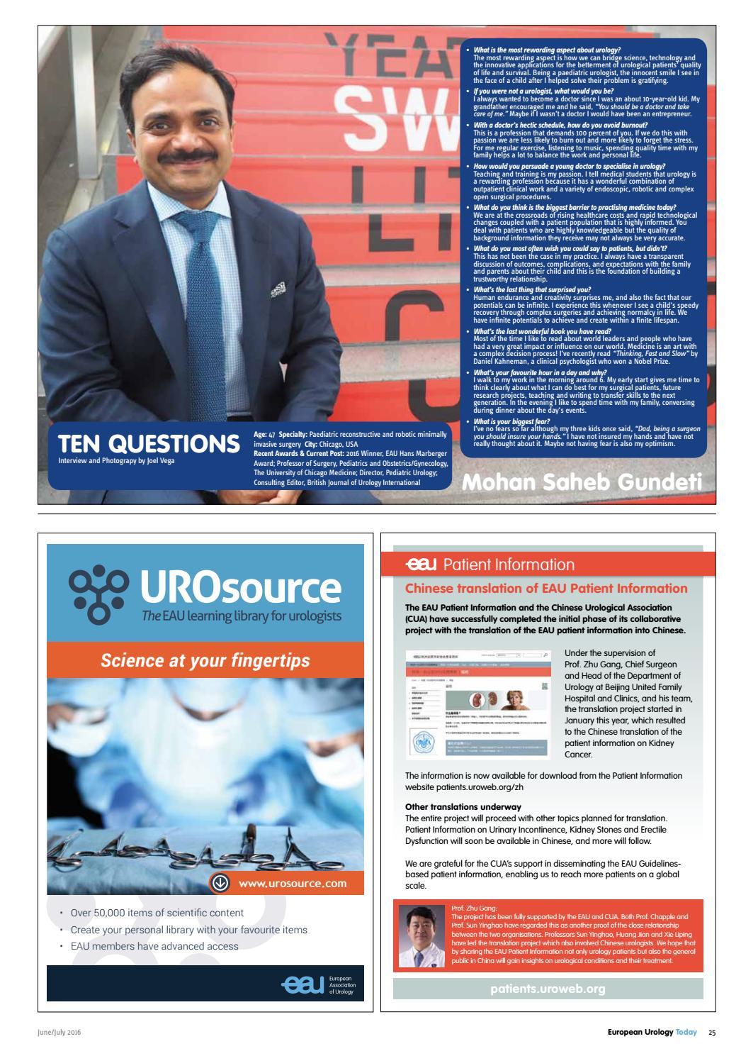 European Urology Today (EUT) June/July 2016 by European