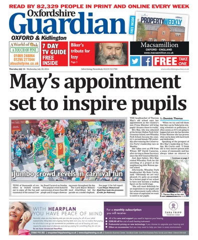 d5c38a39 14 july 2016 oxfordshire guardian city by Taylor Newspapers - issuu