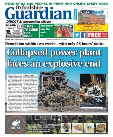 84bbad7f54c 14 july 2016 oxfordshire guardian didcot by Taylor Newspapers - issuu