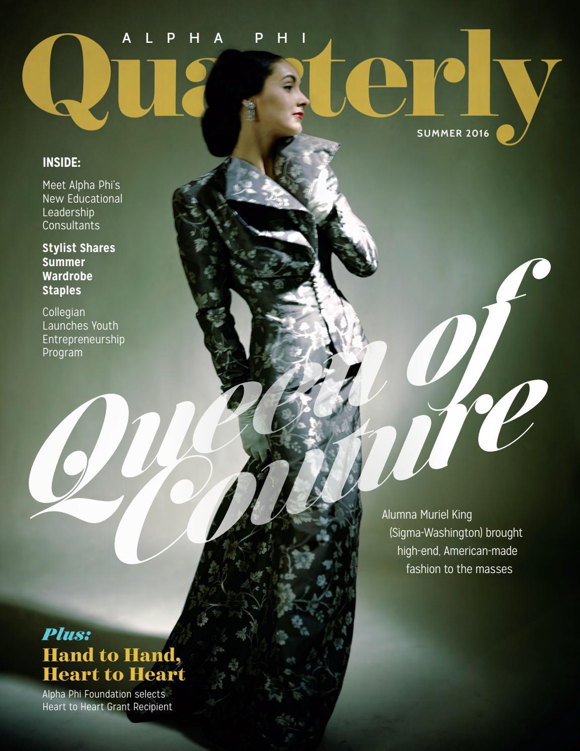 3f1d4549487 Summer 2016 Alpha Phi Quarterly by Alpha Phi International ...