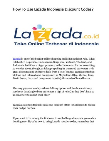 How to use Lazada Indonesia Coupon Codes ? by Nikhil