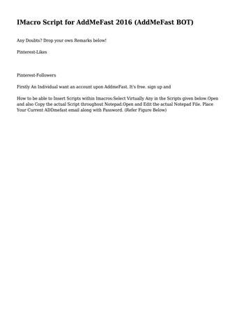 IMacro Script for AddMeFast 2016 (AddMeFast BOT) by