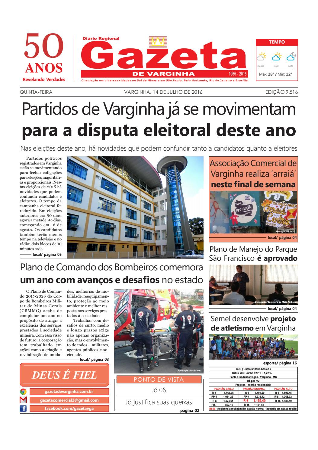 Jornal Gazeta de Varginha 14 07 2016 by Gazeta de Varginha - issuu 25c46ecefc