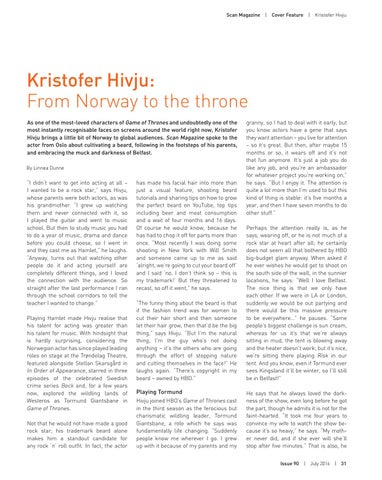 Page 31 of Kristofer Hivju: From Norway to the Throne