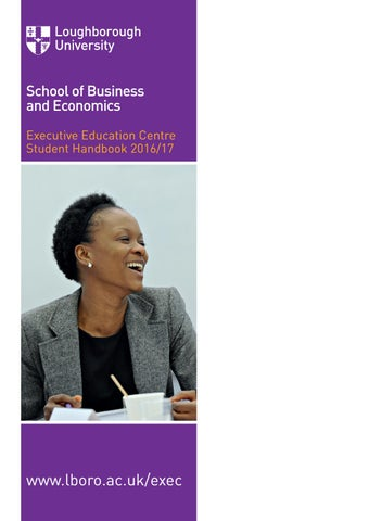 Executive Education Handbook By Loughborough University Issuu