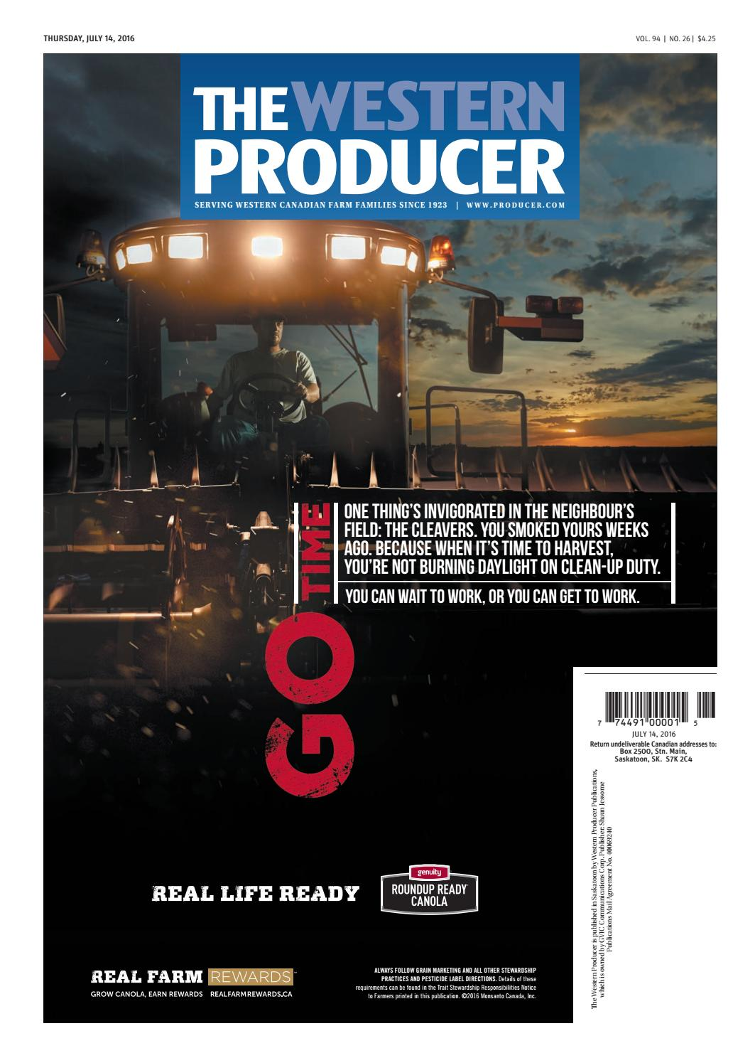 The western producer july 14, 2016 by The Western Producer - issuu