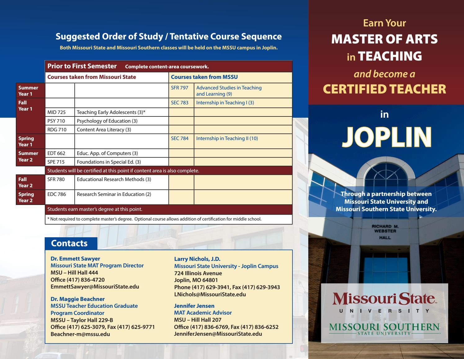 Missouri Teacher Certification Free Professional Resume