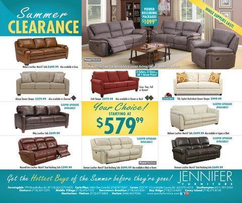 Summer Clearance Insert By Jennifer Furniture Issuu