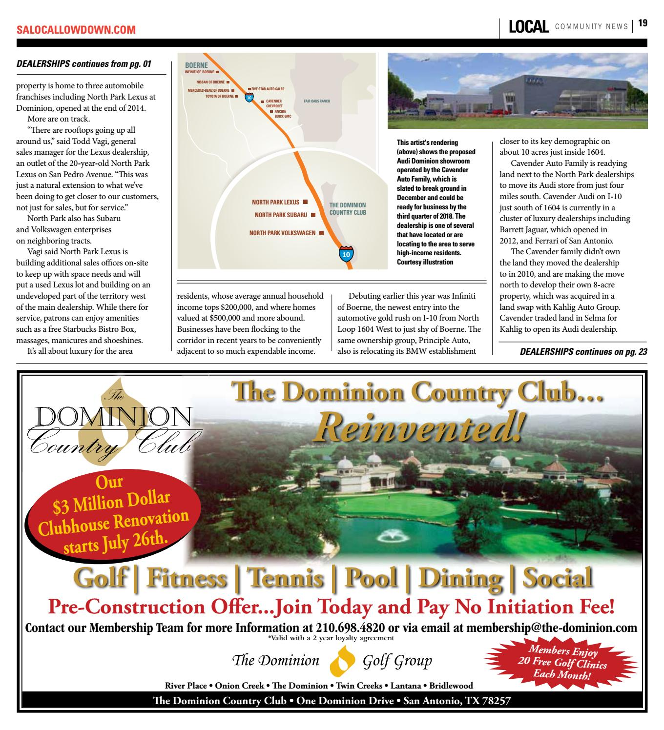 local i 10 corridor leon springs fair oaks ranch the dominion sonoma ranch july 2016 by san antonio local community news issuu leon springs fair oaks ranch