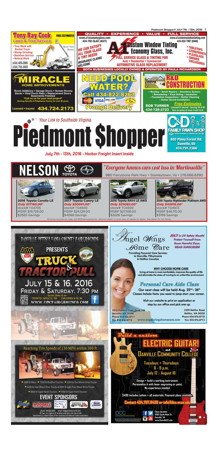 2c9cb64ec2 Piedmont Shopper July 7-13, 2016 by piedmont shopper - issuu