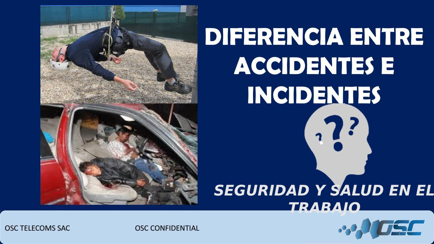Diferencia entre accidente y incidente by sandra benites for Diferencia entre yeso y escayola
