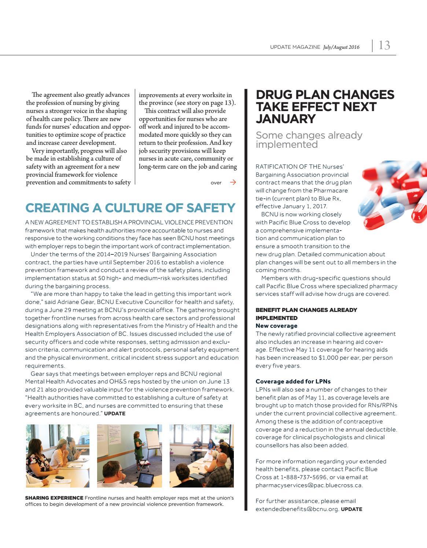 BCNU Update Magazine July-Aug 2016 by BC Nurses' Union - issuu