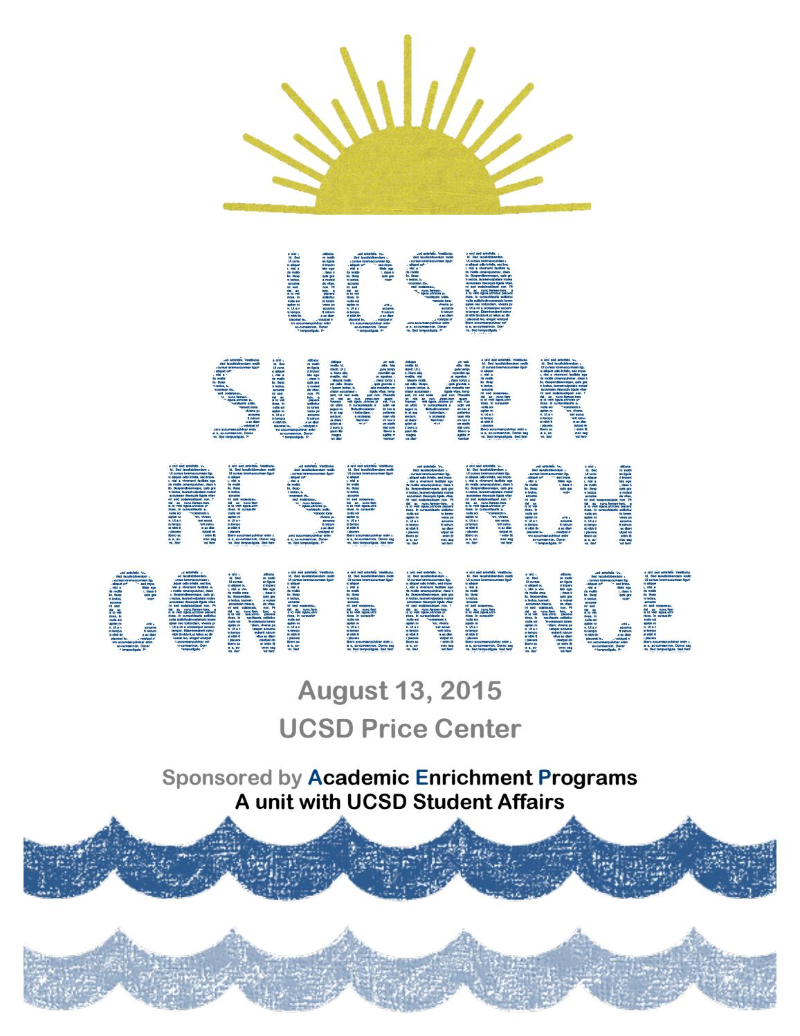 Uc San Diego Summer Research Conference 2015 By Academic Enrichment Peninsula Counters Wiring Code Furthermore Pulse Converter Circuit Programs Issuu