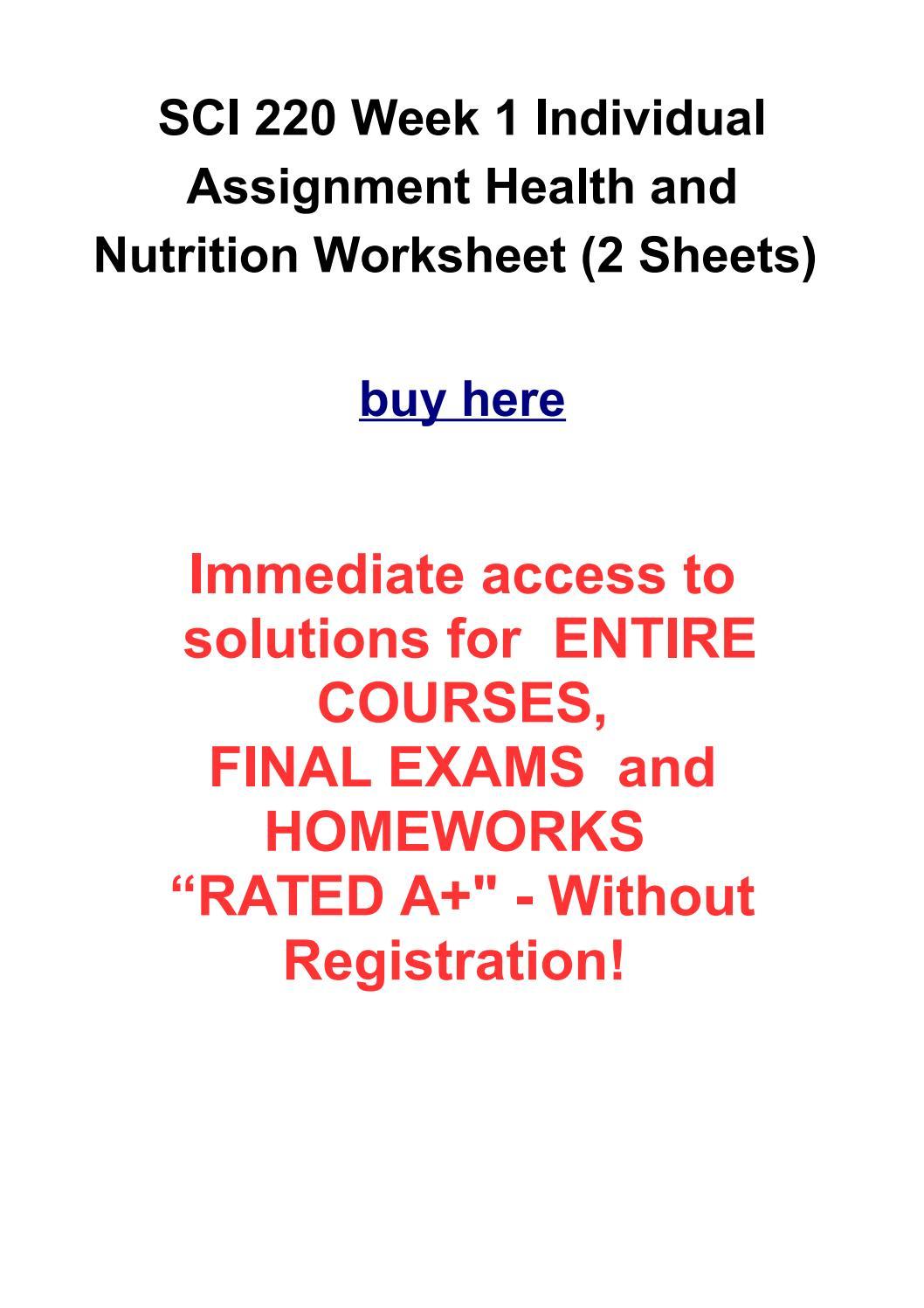 diet and activity plan sci220 essay