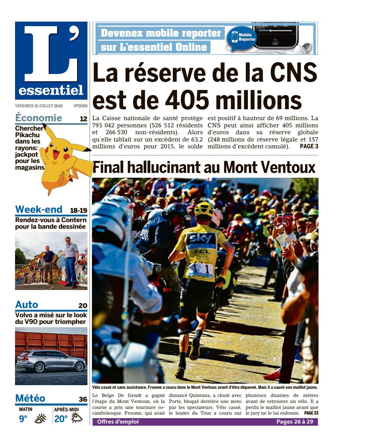 Epaper L'essentiel Issuu 15 By 07 2016 GSqpVzUM