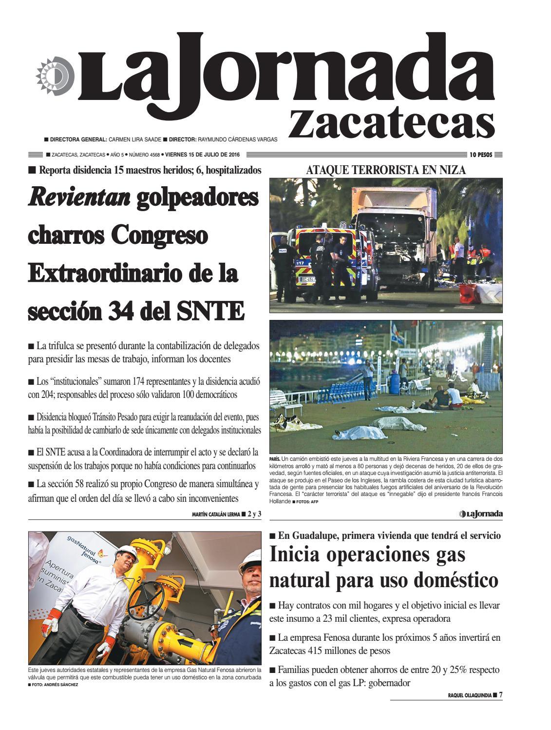 La Jornada Zacatecas, Viernes 15 de Julio del 2016 by La Jornada ...