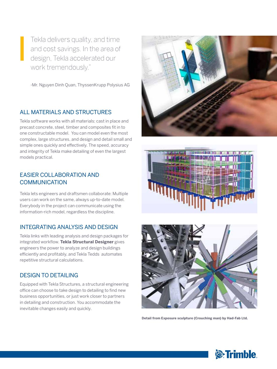 2016 tekla engineering brochure web by Cally Lim - issuu