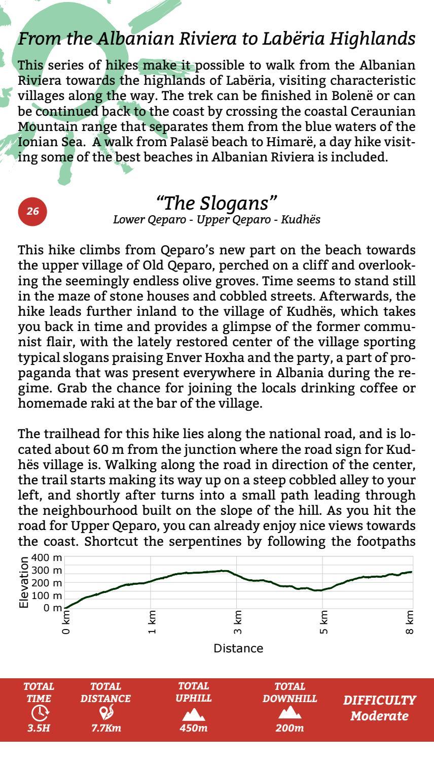 Hiking Trails in Himara Region page 26